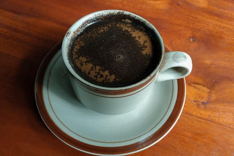 Ilustrasi kopi tubruk.