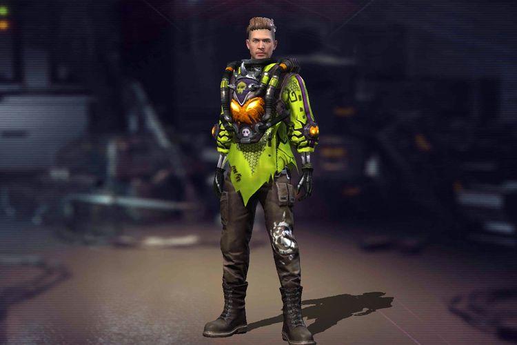 Ilustrasi skin Pumpkin Warrior yang terdapat pada kode redeem yang dibagikan Garena.
