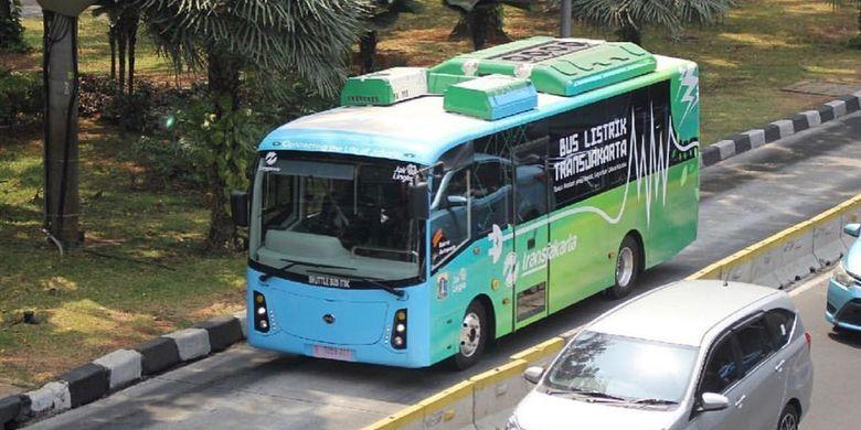 TransJakarta sedang uji coba teknis bus listrik.