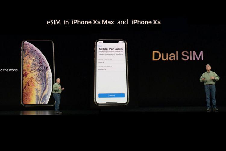 Fitur eSIM di iPhone XS dan XS Max