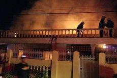 Ditinggal Pergi, Rumah Istri Pensiunan PNS Hangus Terbakar