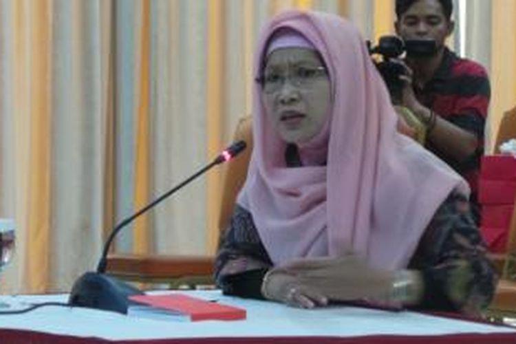 Nina Nurlina Pramono saat mengikuti wawancara tahap akhir calon pimpinan KPK, di Gedung Setneg, Jakarta, Selasa (25/8/2015).