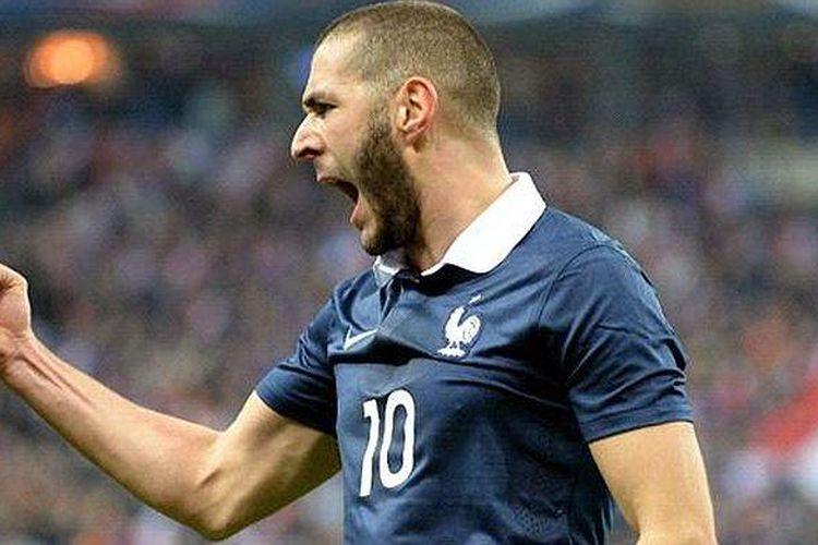 Striker Perancis Karim Benzema