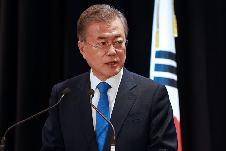 Presiden Korea Selatan Moon Jae-in.