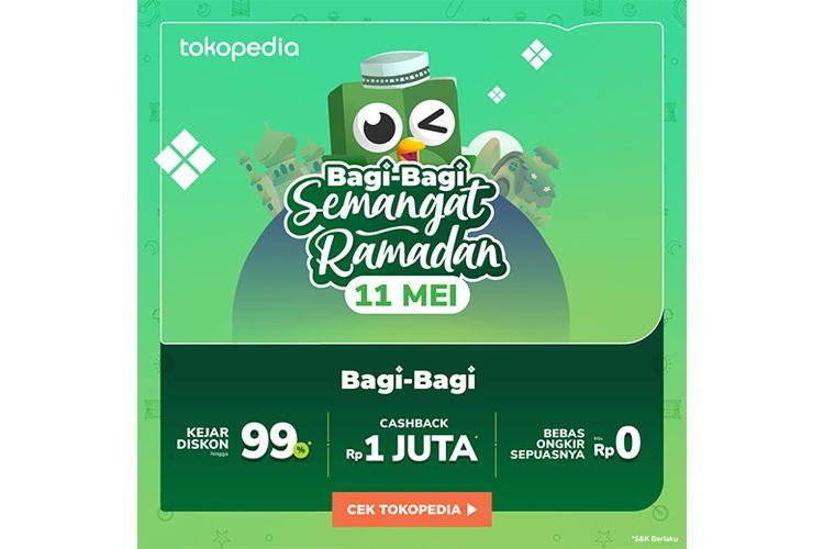 Poster promo Bagi Bagi Semangat Ramadhan Tokopedia