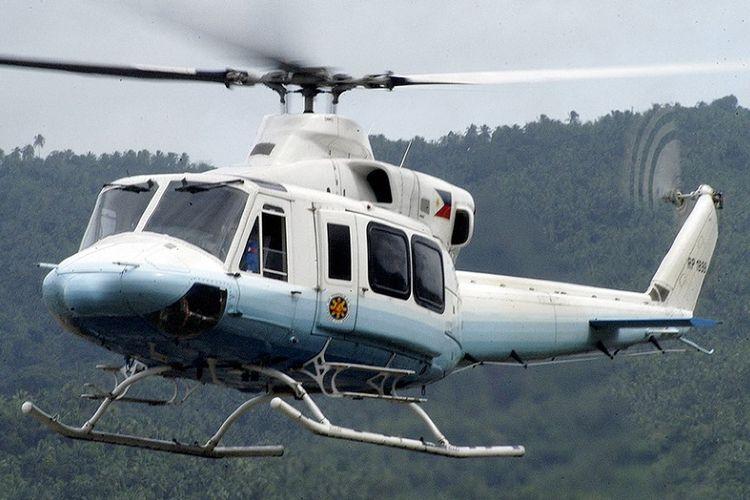 Helikopter Bell 412 milik Angkatan Udara Filipina yang juga digunakan sebagai helikopter kepresidenan.