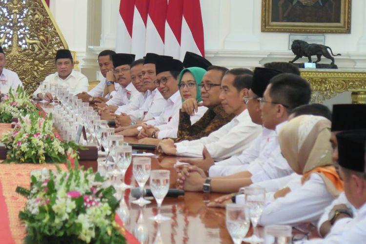Presiden Joko Widodo bertemu pengurus PKB di Istana Kepresidenan, Jakarta, Selasa (2/7/2019).