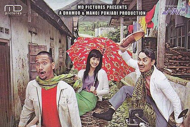 Tora Sudiro, Vincent Rompies, dan Fanny Fabriana dalam film Preman in Love