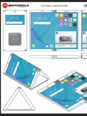 Rancangan ponsel layar lipat Motorola yang bisa menjadi sebuah tablet