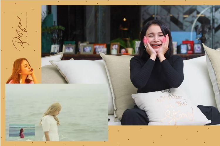 Penyanyi Rossa membuat video reaksi untuk parodi MV Hati yang Kau Sakiti oleh Ryeowook Super Junior.