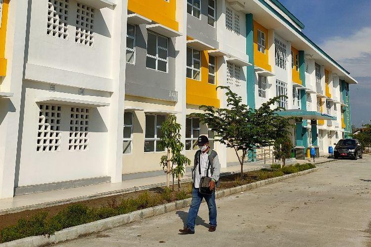 Rusunawa Kraton Tegalsari, Kota Tegal, Jawa Tengah digunakan untuk isolasi pasien Covid-19