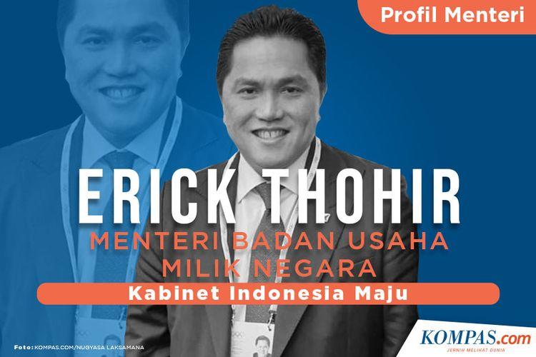 Profil Menteri, Erick Thohir  Menteri Badan Usaha Milik Negara
