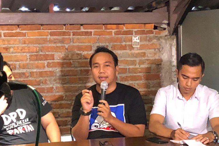 Peneliti Perkumpulan untuk Pemilu dan Demokrasi (Perludem) Fadli Ramdhanil dalam sebuah diskusi di Jalan Wahid Hasyim, Minggu (18/11/2018).