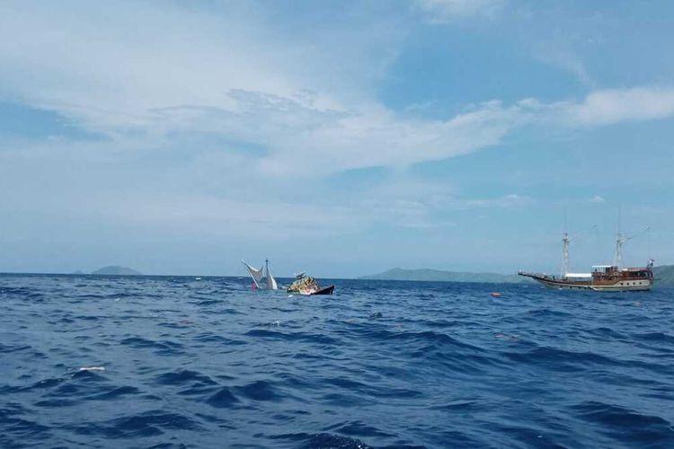 ini semua foto-foto kapal phinisi Bali milik Hotel Plataran Resort Komodo Labuan Bajo yang muat wartawan istana tenggelam. (Foto Istimewa/HANDOUT)