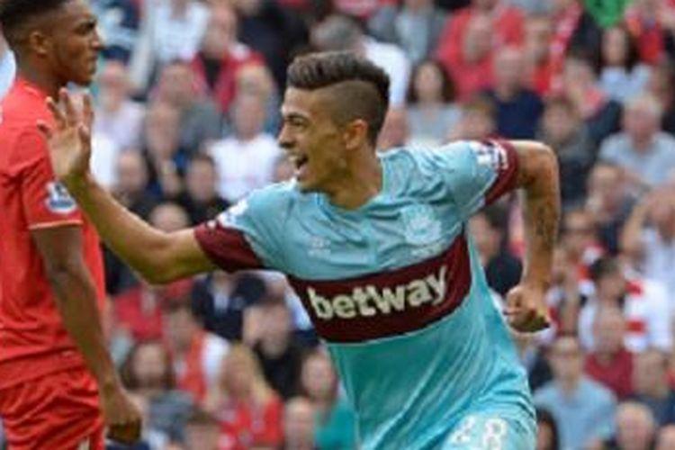 Gelandang serang West Ham United asal Argentina, Manuel Lanzini. (Sumber foto: West Ham United Official)