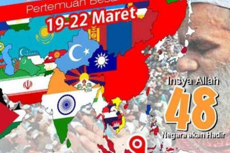 IJTIMA DUNIA 2020 yang dihadiri ratusan Warga Negara Asing (WNA) akan tetap dilanjutkan oleh panitia meski telah beberapa kali mendapat permintaan penundaan oleh pemerintah Kabupaten Gowa, Sulawesi Selatan ditengah ancaman wabah virus corona. Rabu, (18/3/2020).