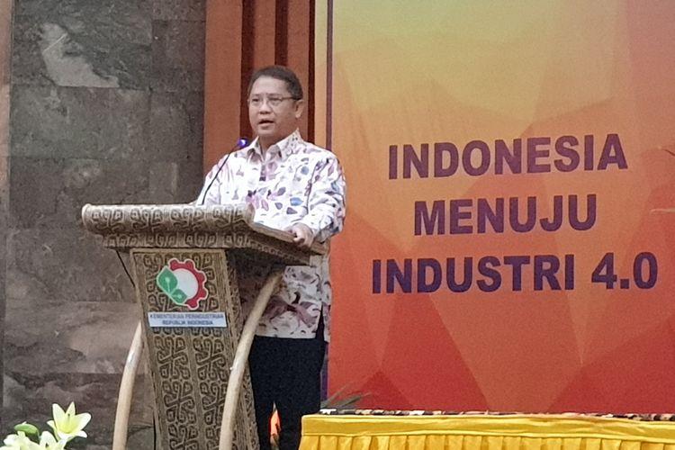 Menteri Komunikasi dan Informatika Rudiantara ketika berbicara dalam acara penandatanganan Peraturan Menteri tentang blokir ponsel BM di Jakarta, Jumat (18/10/2019).