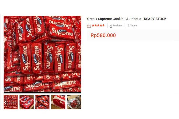 Oreo Supreme yang dijual di salah satu marketplace di Indonesia.