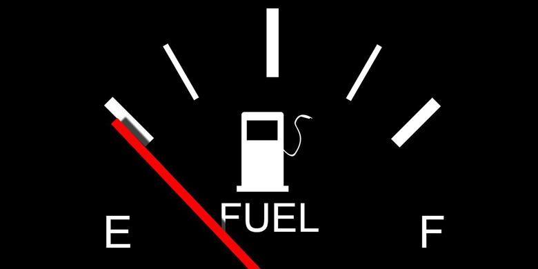 Ilustrasi indikator bensin