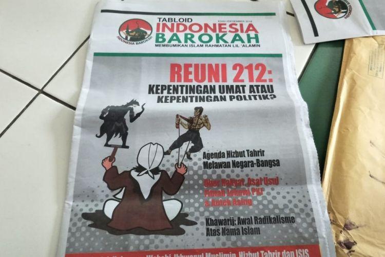 Tabloid Indonesia Barokah yang diduga tendensius terhadap salah satu Capres-Cawapres, Jumat (25/1/2019).