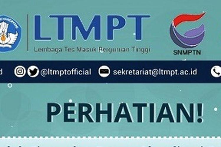 Informasi dari LTMPT mengenai SNMPTN 2021.