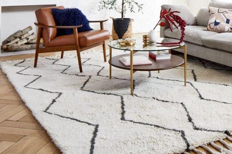 Ilustrasi karpet wol di rumah.