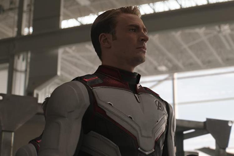 Chris Evans sebagai Captain America dalam Avengers: Endgame.
