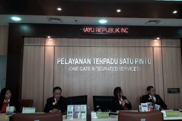 Pengadilan Negeri Jakarta Barat membuka Pelayanan Terpadu Satu Pintu (PTSP) pada Rabu (2/5/2018).