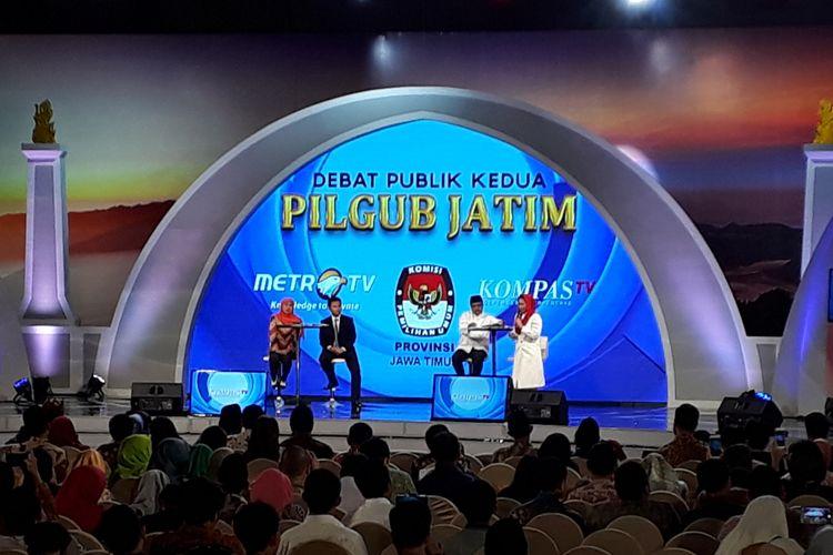 Debat publik kedua Pilkada Jatim