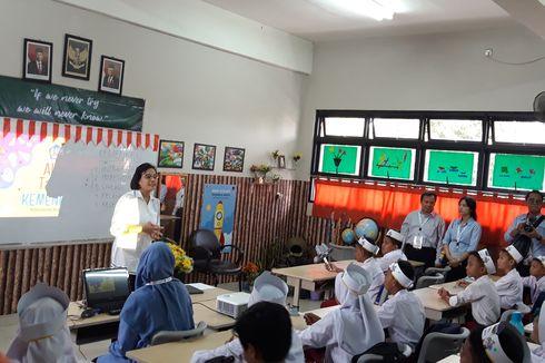 Ketika Menkeu Sri Mulyani Mengajar Siswa SD Kenari