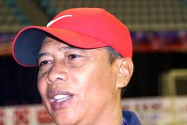 Pelatih Tim Nasional Futsal Indonesia, Dadang Iskandar.