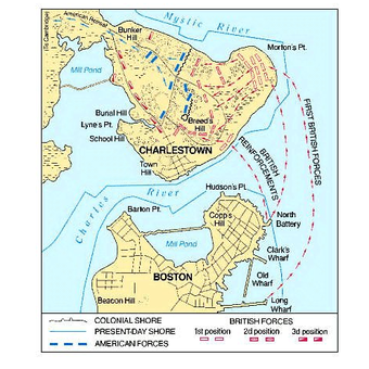 Peta pergerakan Revolusi Amerika
