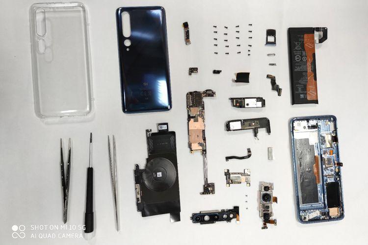 Sesi teardown Xiaomi Mi 10