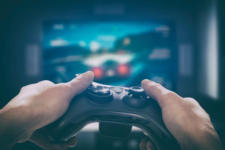 Ilustrasi main video game