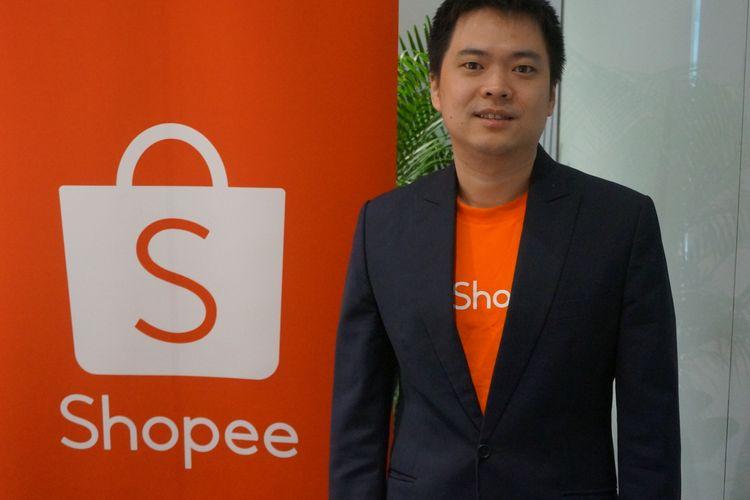 CEO Shopee Chris Feng saat ditemui di Kantor Pusat Regional Shopee di Singapura, Kamis (17/10/2019).