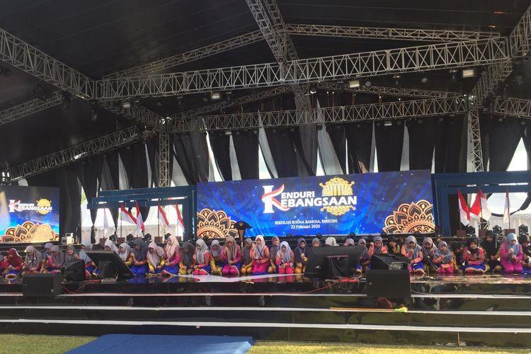 Gladi resik Kenduri Kebangsaan di Sekolah Sukma Bangsa, Bireun, Aceh, Jumat (21/2/2020).