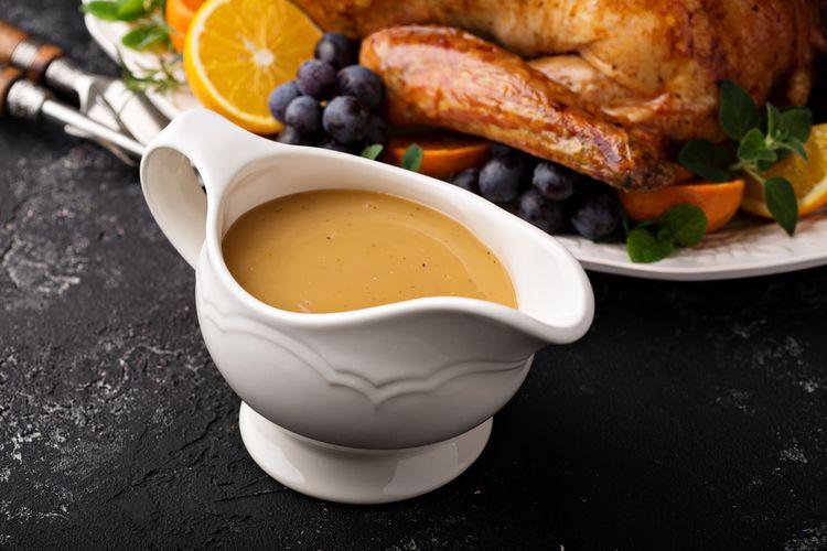Ilustrasi gravy sauce.