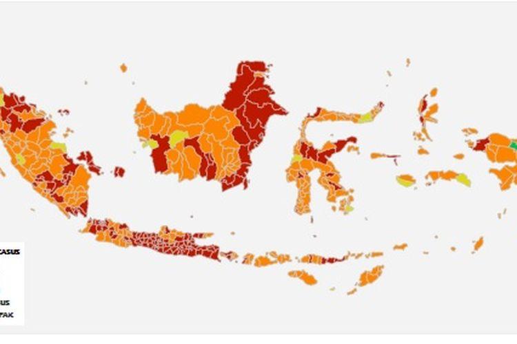 Zona Merah di Indonesia 25 Juli 2021