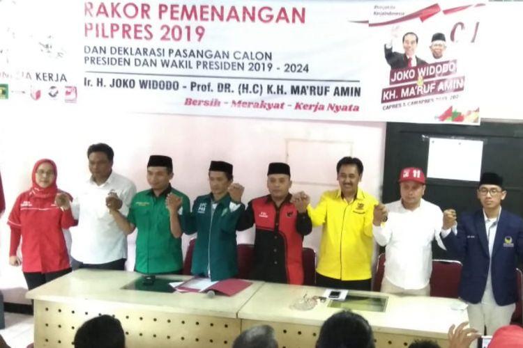 Para ketua parpol pengusung Joko Widodo-Maruf Amin siap rebut 70 persen suara warga Sumedang di Pilpres 2019 ini.