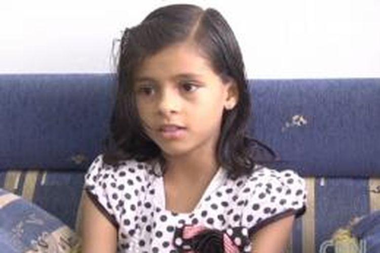 Nada al-Ahdal, gadis Yaman usia 11 tahun yang menyatakan dalam sebuah video di YouTube bahwa ia telah dipaksa untuk menikah oleh orang tuanya sendiri.