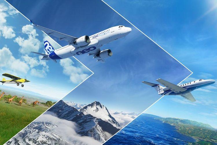 Poster Microsoft Flight Simulator 2020.