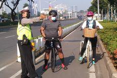Polisi Putar Balik Pesepeda yang Nekat Gowes di Sudirman-Thamrin Saat PPKM Darurat