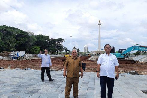 Sidak ke Lokasi Revitalisasi Monas, Ketua DPRD DKI Minta Proyek Dihentikan