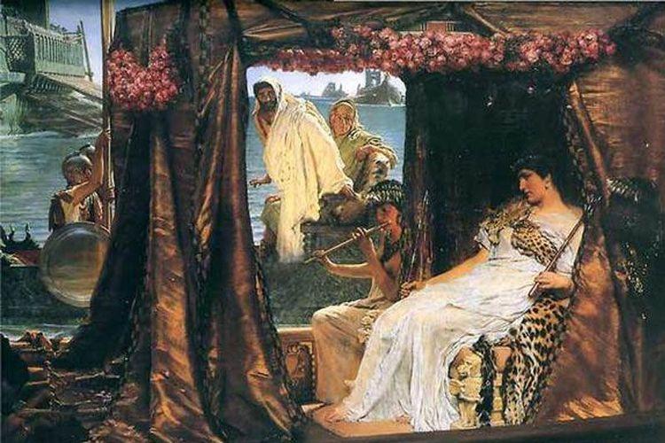 Kisah cinta Cleopatra dan Mark Antony. [Lawrence Alma-Tadema Via Livescience.com]