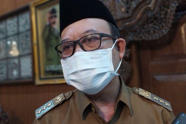 Bupati Banyumas Achmad Husein di Purwokerto, Kabupaten Banyumas, Jawa Tengah, Senin (24/5/2021).