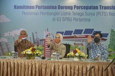 Bangun PLTS Atap di 63 SPBU, Pertamina Dorong Transisi Energi