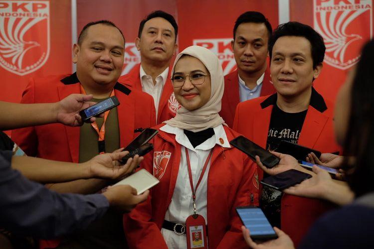 Angkie Yudistia di acara Bimteknas PKPI di Hotel Mercure Simatupang, Jakarta, Jumat (13/12/2019).