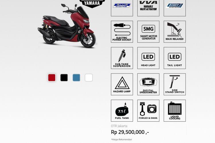 Harga All New NMAX 155 sudah diumumkan di situs resmi Yamaha.