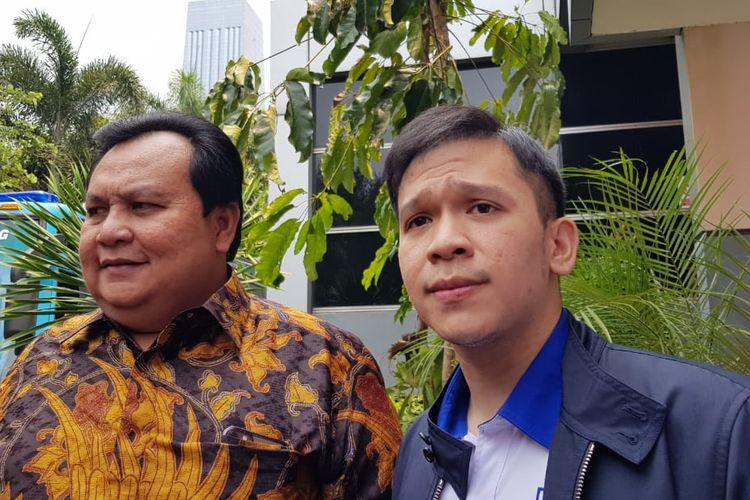 Jordi Onsu dan Minola Sebayang, kuasa hukum saat ditemui di Polda Metro Jaya, Jakarta Selatan, Senin (11/11/2019).