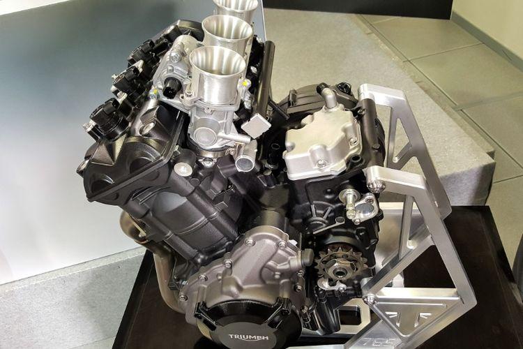 Mesin tiga silinder 765cc milik Triumph yang akan digunakan untuk Moto2.